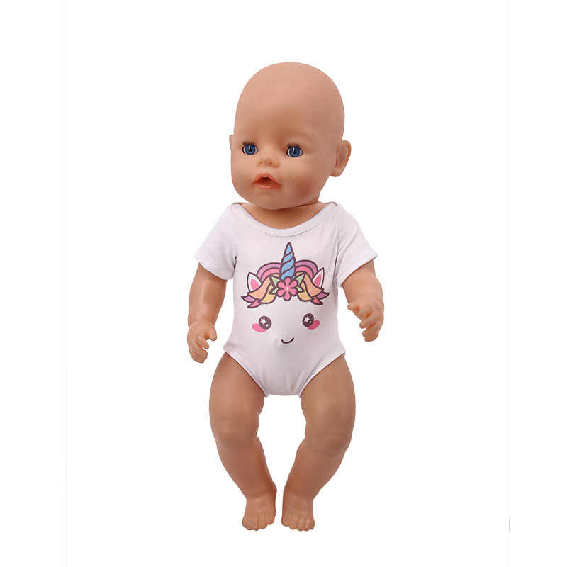 Boneka Unicorn Putri Duyung Pakaian Pakaian Renang 15 Gaya Tersedia untuk 18 Inch Amerika & 43 Cm Bayi Baru Lahir Boneka Generasi gadis Mainan