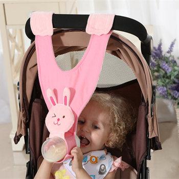 Baby Stroller Accessories Infant Carriage Bottle Hanging Holder Free Hands Nursing Feeding Support Fixing Bracket