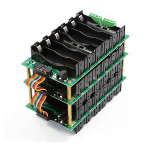 Image 1 - 24v 6s電源壁18650バッテリーパック6s bmsリチウムイオンリチウム18650バッテリーホルダーbms pcb diy電動自転車太陽電池6sバッテリーボックス