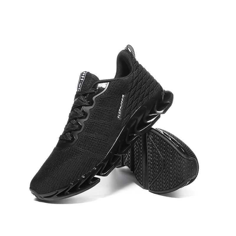 Легкая дышащая Спортивная обувь для пробежек мужские Нескользящие износостойкие мужские кроссовки для бега на шнуровке Размер 39-45