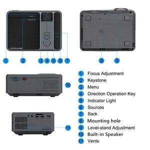 Image 4 - Caiwei C180 Mini projecteur intelligent hd TV Mobile Android petit projecteur dans les projecteurs de cinéma maison projecteurs vidéo dextérieur