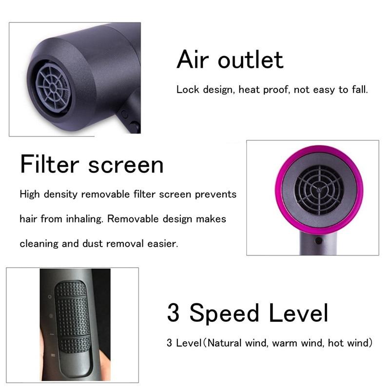 ruído rápido portátil secador cabelo ferramentas estilo styler