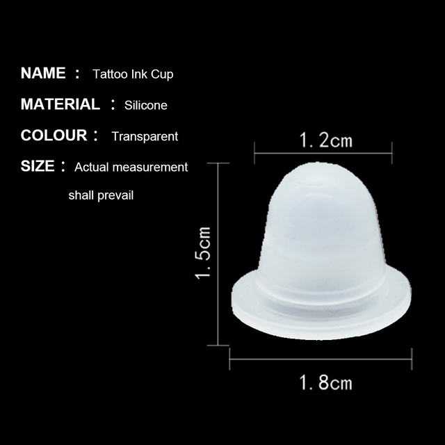 50Pcs Soft Microblading Tattoo Ink Cup Cap Pigment Silicone Holder Container S/L For Needle Tattoo accessory supply 2