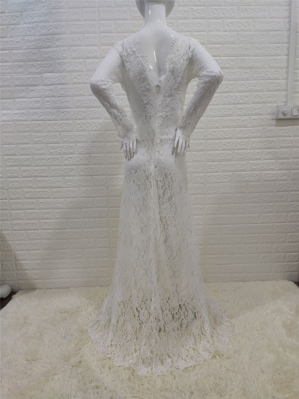 White Lace Maternity Photography Props Dresses Sexy Fancy Pregnancy Dress For Photo Shooting Long Pregnant Women Maxi Gown 2020 (11)