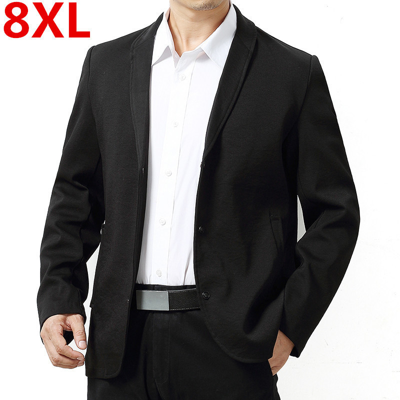 8XL 7XL 6XL Spring Autumn  NEW Mens Fashion Brand Blazer Casual Slim Suit Jackets Male Blazers Men Coat Plus Size