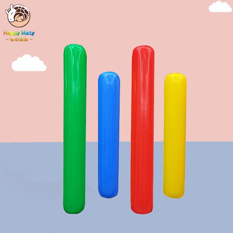 Jouets éducatifs de sport de bâton gonflable d'air fait sur commande d'équipement de formation de sens d'exercice extérieur d'enfants pour des enfants de jardin d'enfants