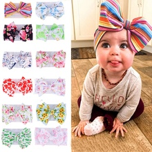 12 Styles Baby Headband Knotted Turban Girls Big Bow Headwears Cute Hair Accessories for Newborn Toddler Children 0-4Y