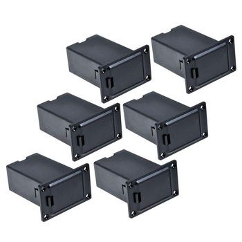 Promoción -- 6 uds. Negro 9v soporte de batería/caja de tapa de compartimento funda guitarra y bajo