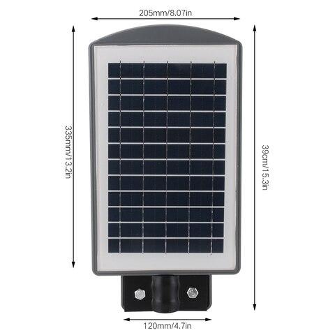 rua luz solar sensor de movimento pir