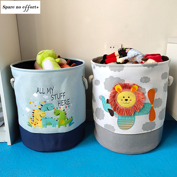 Baby Laundry Basket Cute Dinosaur  Foldable Toy Storage Bucket Picnic Dirty Clothes Basket Box Canvas Organizer Cartoon Animal 1