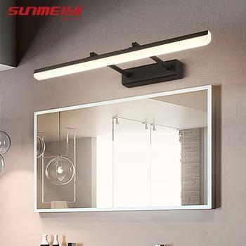 Modern Led Wall Lights Bathroom Lamp Adjustable Mirror Light Waterproof Stainless Steel Wall Lamp Bedroom Restroom aplique pared цена 2017