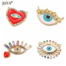 JUYA Популярные Модные Подвески для изготовления ювелирных изделий, роскошные разноцветные хрустальные подвески от сглаза для женщин, подарок своими руками