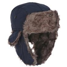 1 шт., мужская шапка охотника-пилота, зимняя теплая шапка-ушанка для русской лыжи, шапка-бомбер из искусственного меха кролика, унисекс, спортивные шапки, мужские подарки