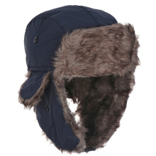 1Pcs Men Pilot Trapper Cap Winter Warm Earflap Russian Ski Snow Hat Faux Rabbit