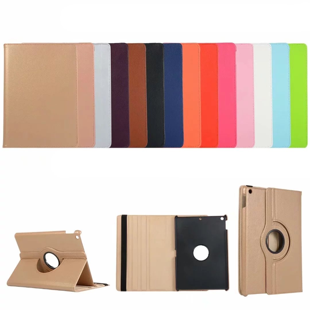 Random Color Clear 360 Degree Rotating Stand Cover For iPad 2019 10 2 Smart Case Fundas For Apple iPad