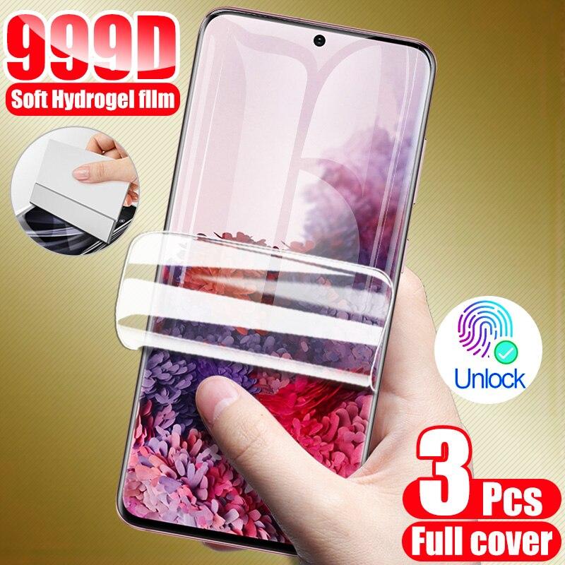 3 sztuk hydrożel folia ochronna na ekran do Samsung Galaxy S8 S9 S10 S20 Plus osłona ekranu dla A50 A51 A70 A30 A71 uwaga 10 9 8