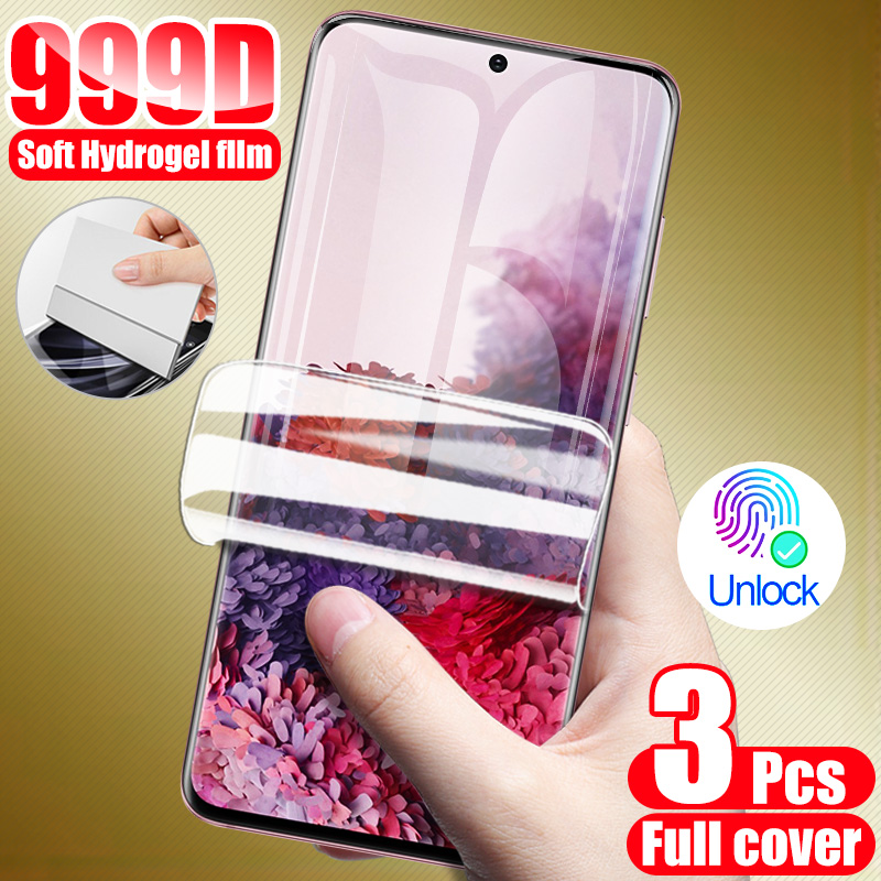 3Pcs Hydrogel Film Screen Protector For Samsung Galaxy S8 S9 S10 S20 Plus Screen Protector For A50 A51 A70 A30 A71 Note 10 9 8|Phone Screen Protectors|   - AliExpress