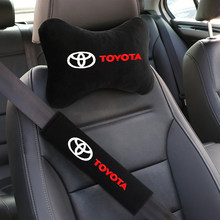 Автомобильный Стайлинг сиденье с ремнем на плечо, Безопасность накладки для ремней с сиденья шеи Комплект подушек для Toyota c-hr Prado rav4 Yaris hilux ...