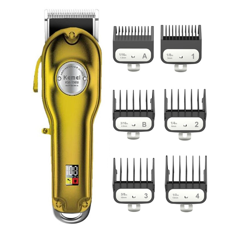 Professional Clipper Shaver Hair-Trimmer Barber Electric-Beard All-Metal Rechargeable