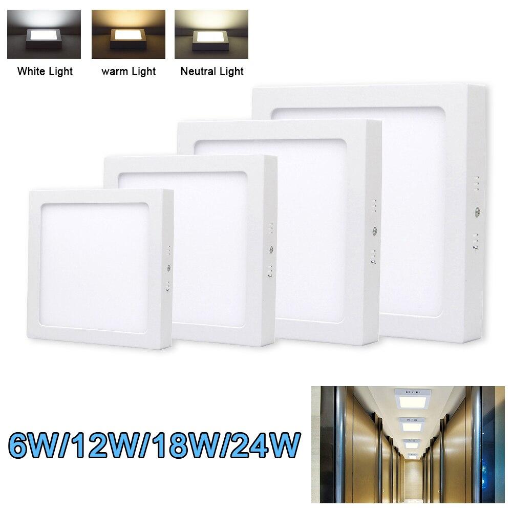 1 adet LED tavan ışık kare düz LED yüzey montaj tavan lambası banyo mutfak oturma odası için
