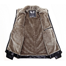 New Fashion Fur-in-One Men's Leather Clothes Men's Clothes Autumn and Winter Plus Suede Jac
