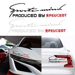 Adesivos de carro para Peugeot 107 108 206 207 308 307 508 2008 3008 Estilo Auto Styling Acessórios Para Automóveis Moda Palavra adesivos