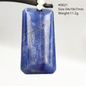 Image 1 - Natürliche Blau Kyanit Katze Auge Wirkung Halskette Anhänger Glück 925 Silber Frauen Männer Liebe Jahrestag Geschenk Mode Anhänger AAAAA