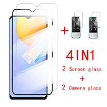 4in1 proteção de vidro no vivo y31 protetores de tela vidro temperado para vivoy31 vi vo y 31 31y 6.58