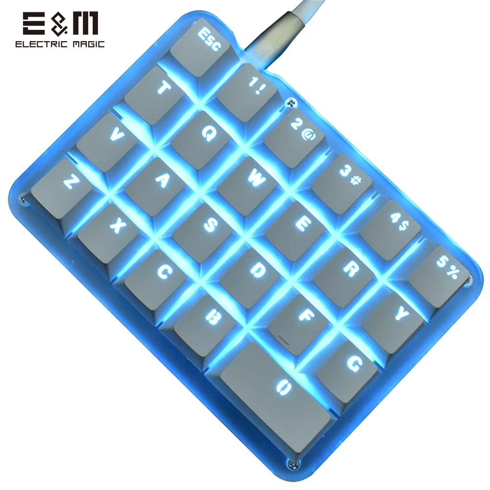 9 Keys 24 Macro Programmable Setting Keypad RGB Backlight Mechanical Keyboard for OSU Single-Handed Keyboard Electric Contest Game PC Laptop MAC Win Geeker Outemu Blue Switch