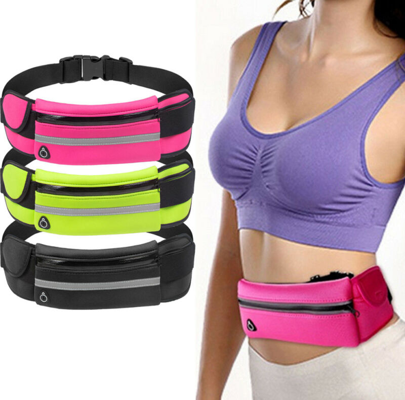 2019 Waist Pack Men Women Fashion Pocket Waterproof Phone Belt Nylon Casual Small Bag For Traveling Running Sport Waist Bags New