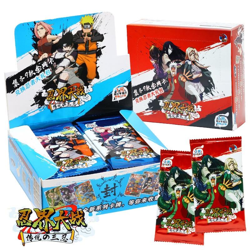 Narutoes фильм карточная игра для костюмированной вечеринки по японскому аниме мультфильм в коробке Коллекционная модель коллекции Моб карты ...