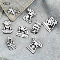 XEDZ-pin esmaltado con dibujos animados de panda, Tesoro Nacional, niño, animal, placa de metal, punk, ropa, broche para solapa, regalo