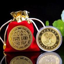 Новогодний подарок мышь крыса памятная монета год крысы коллекция монет искусство удача везучий подарок украшение талисман
