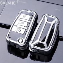 Serin TPU araba anahtarı durum kapak için Audi A1 A3 A4 A5 Q7 A6 C5 C6 araç tutucu kabuk uzaktan kapak araba styling anahtarlık oto aksesuarları