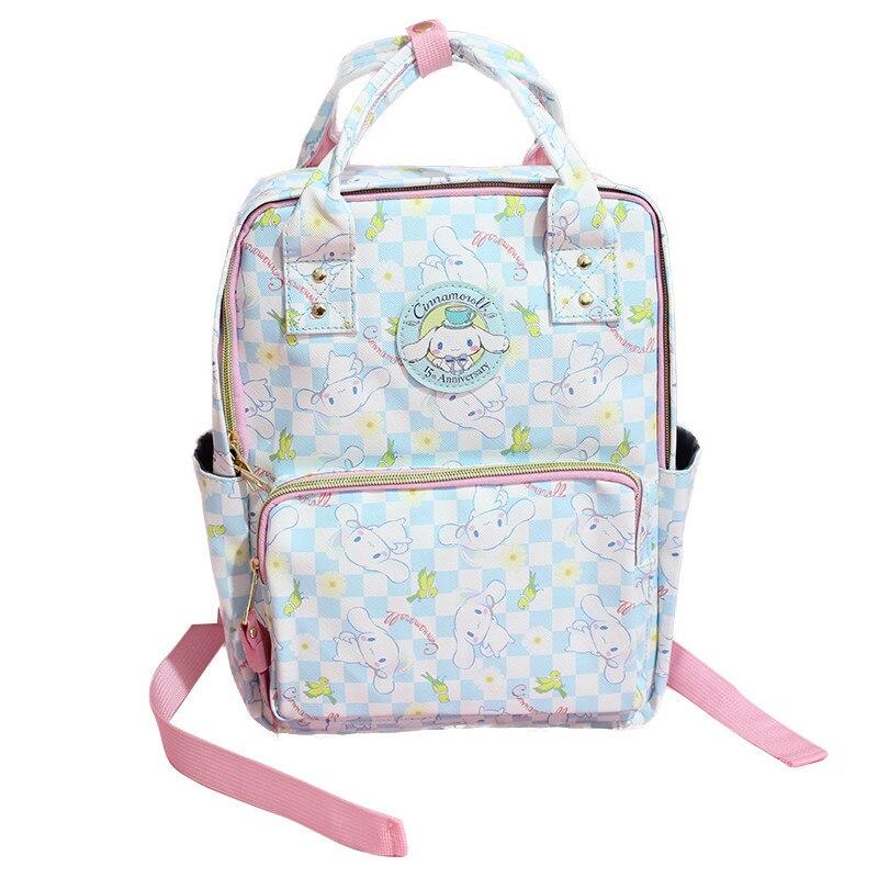 Cartoon Cute Genuine Cinnamoroll Dog Backpack Schoolbag Primary School Bags Teenage Girls Female School Shoulder Bag Travel Bag