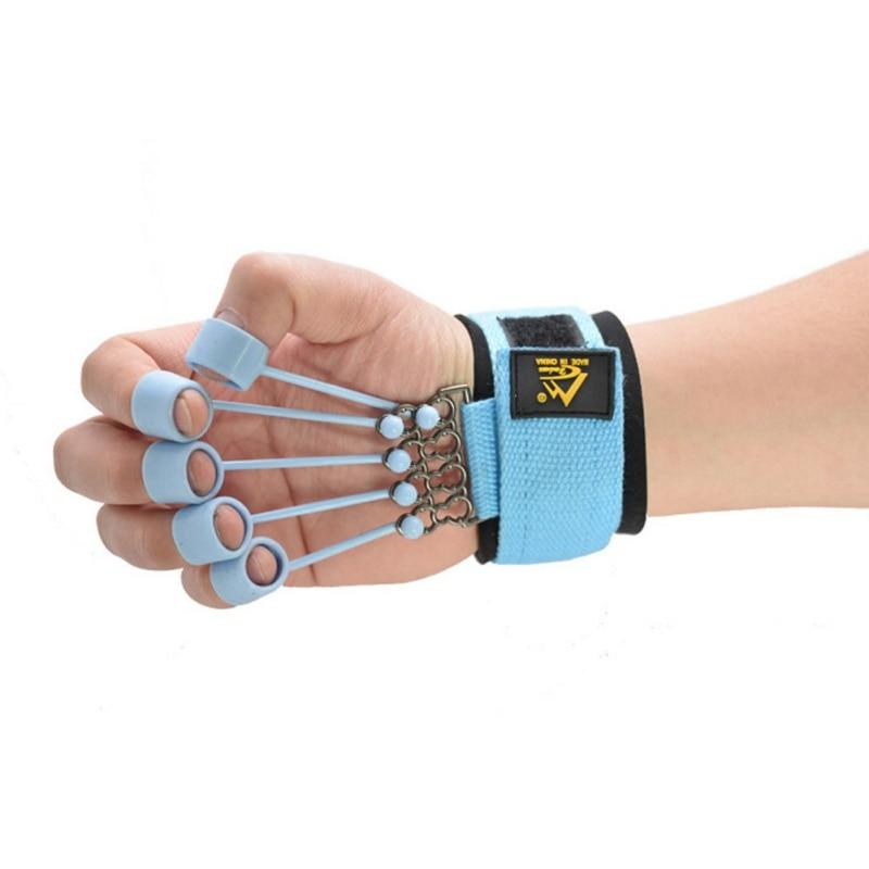 Hand Gripper Finger Expander Finger Trainer Finger Exerciser Resistance Bands Fitness Finger Force Grip Device Hand Training