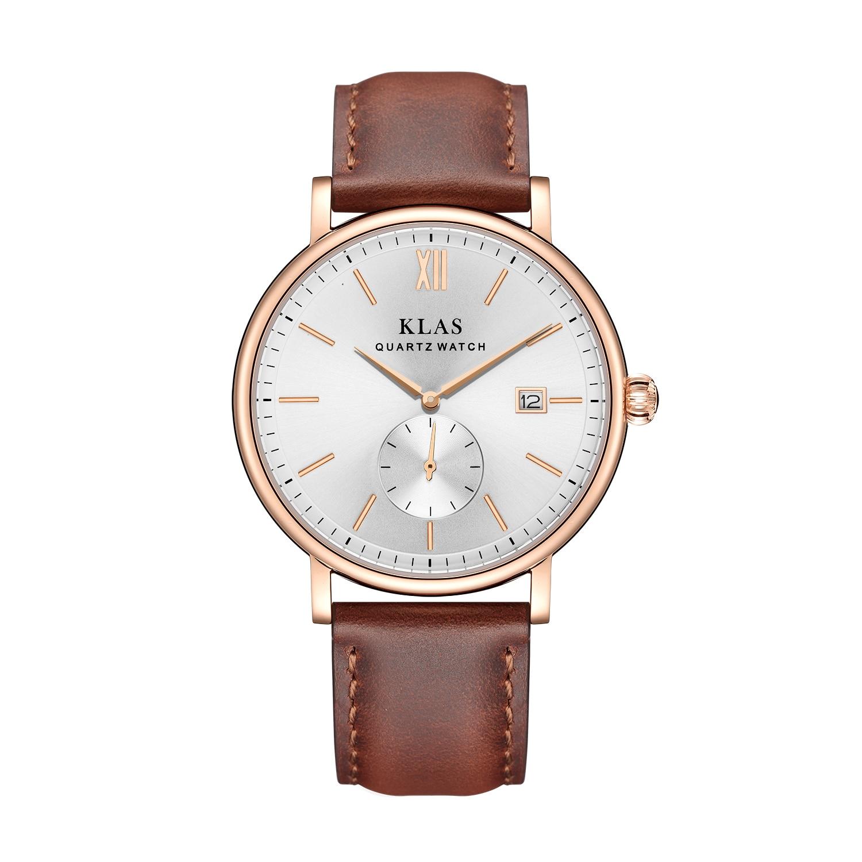 para homem negócio analógico vestido relógio