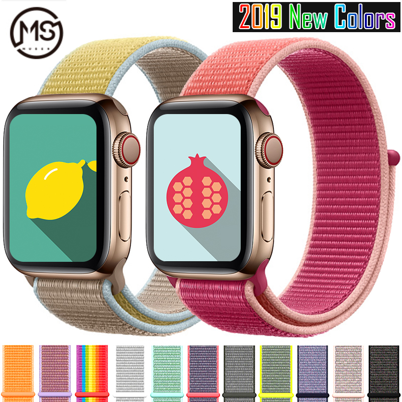 Band Watch Apple Series 4/3/2/1 38MM 42MM Nylon Breathable Soft Replacement Sports Strap Iwatch Series 5 40MM 44MM