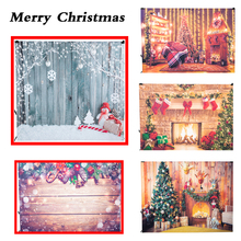 цена на 5x7FT Antique Wood Plank with Christmas Decoration Photo Background Background Props Christmas Holiday Decoration