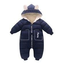 Velvet Jumpsuit New Born Costume Wear Toddler Romper Baby-Girl Thick Kids Winter Cotton