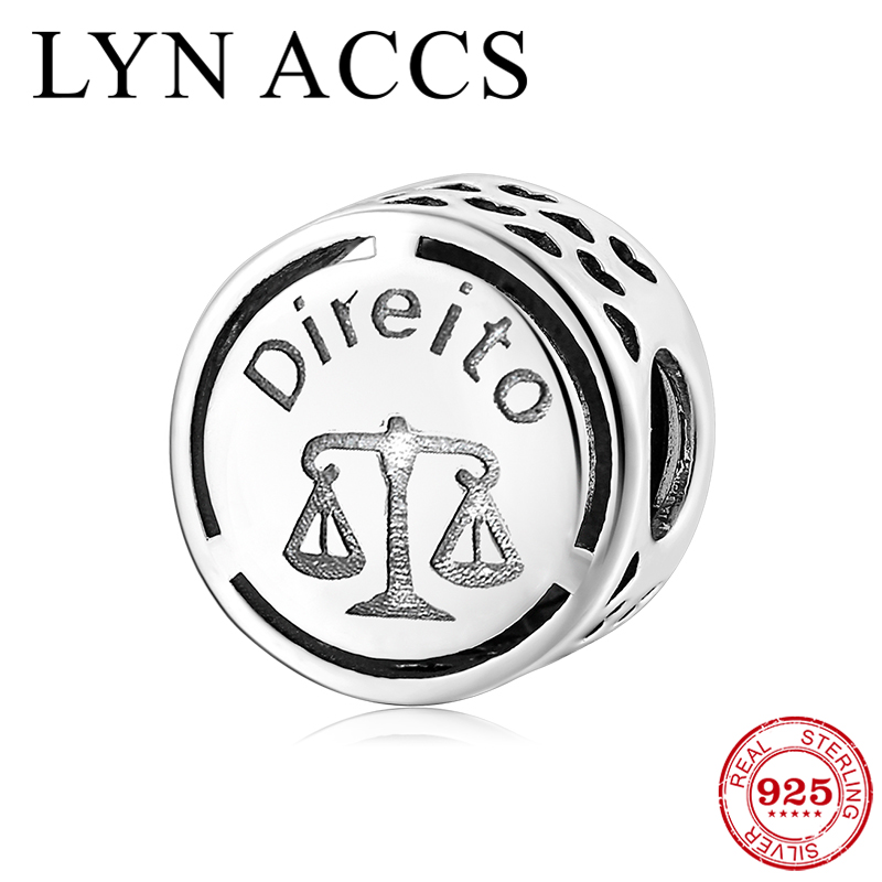 Lawyer Occupation Sign Law Charm Beads