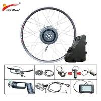 48 v 500 w roda do motor kit de bicicleta elétrica com bateria de lítio 48 v 20ah frente traseira sem escova hub motor e bicicleta elétrica