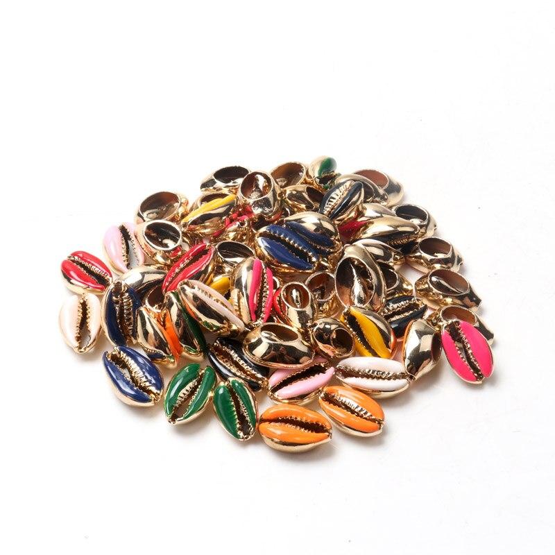 Conchas de mar naturales cortadas por venas doradas, para fabricación de joyería artesanal, decoración para el hogar, concha de colada, decoración para la playa, 10-20mm