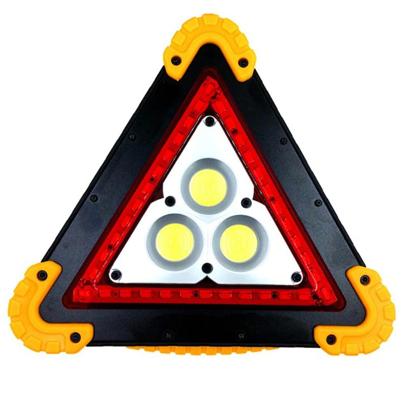 Warning Light Bright Universal Triangle LED Taillight Waterproof LED Light Truck Strobe Lamp Outdoor Camping Emergency Lantern