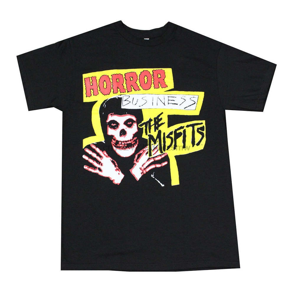 Crossfit T Shirts HORROR MISFITS BUSINESS Men amp T Shirt Black Novelty Short Sleeve Tee Tops Clothes in T Shirts from Men 39 s Clothing