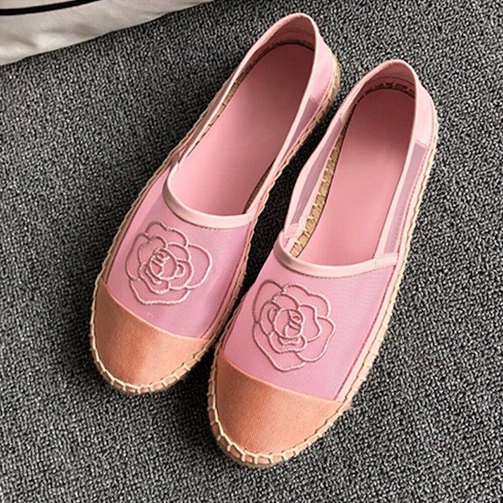 Chaussures pour femmes 2019 nouveau printemps été maille Espadrilles chaussures sans lacet mode vente chaude chaussures plates pour femmes grande taille 42 - 6