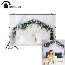 Allenjoy photography background Christmas headboard tufted pine tree leaf photophone backdrop photocall photo studio photobooth allenjoy photophone background photography studio fantasy halloween magic window fire basin fairy tale backdrop palace photocall