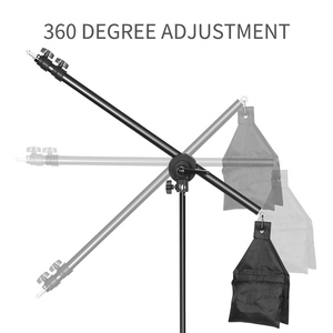 Image 2 - Photo Studio Kit Light Stand Cross Arm With Weight Bag Photo Studio Accessories Extension Rod 53  133CM Or 75 135CM Optional