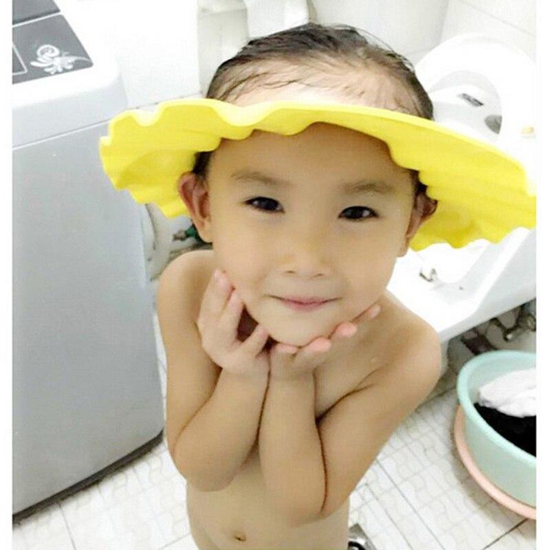 Детский шампунь для мытья волос для ванны козырек шапки регулируемый щит Водонепроницаемый защита ушей глаз детские шапки для новорожденн...