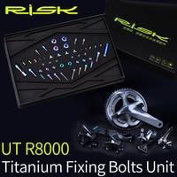 RISK R8000 Titanium Bike Screws Bolts Group Set For Bicycle Derailleur System Shimano Ultegra R8000 Titanium Screw Kit Ti Bolts